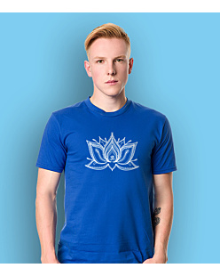 The Lotus T-shirt męski Niebieski S