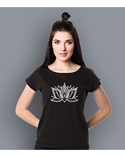 The Lotus T-shirt damski Czarny XS