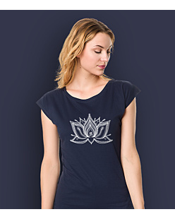 The Lotus T-shirt damski Granatowy XXL