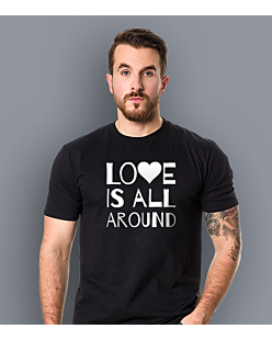 LOVE IS ALL AROUND T-shirt męski Czarny S