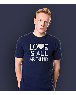 LOVE IS ALL AROUND T-shirt męski Granatowy S