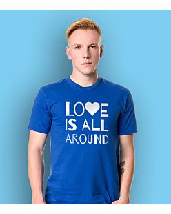 LOVE IS ALL AROUND T-shirt męski Niebieski M