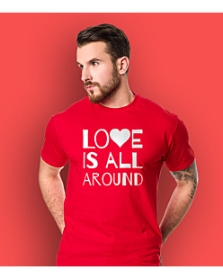 LOVE IS ALL AROUND T-shirt męski Czerwony L