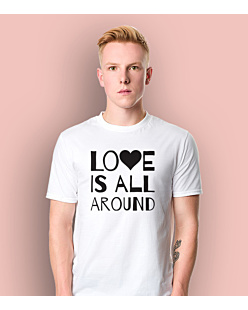 LOVE IS ALL AROUND T-shirt męski Biały S