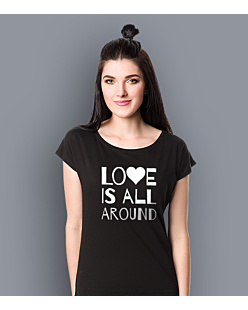 LOVE IS ALL AROUND T-shirt damski Czarny XS