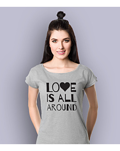LOVE IS ALL AROUND T-shirt damski Jasny melanż XS