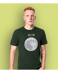 SET FOOT ON THE MOON T-shirt męski Ciemnozielony S