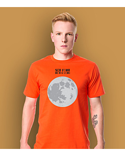 SET FOOT ON THE MOON T-shirt męski Pomarańczowy S