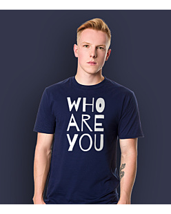 WHO ARE YOU T-shirt męski Granatowy S