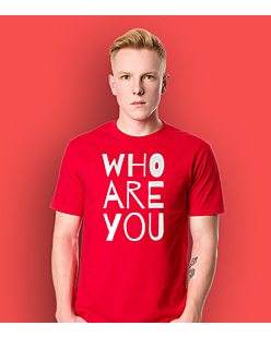 WHO ARE YOU T-shirt męski Czerwony S