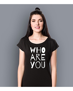 WHO ARE YOU T-shirt damski Czarny XS