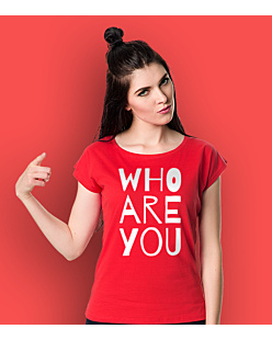 WHO ARE YOU T-shirt damski Czerwony XS