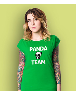 Panda Team T-shirt damski Zielony XS