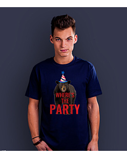 Where's the party? T-shirt męski Granatowy S