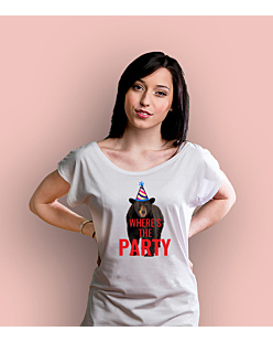 Where's the party? T-shirt damski Biały XS