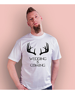 Wedding is coming T-shirt męski Biały S