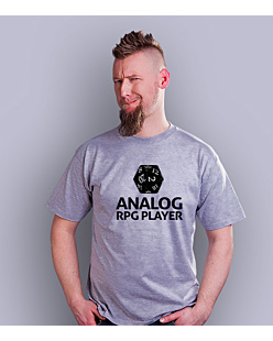 Analog RPG Player T-shirt męski Jasny melanż S