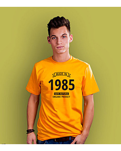 Made in 1985-89 T-shirt męski Żółty XXL