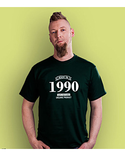 Made in 1990-94 T-shirt męski Ciemnozielony S