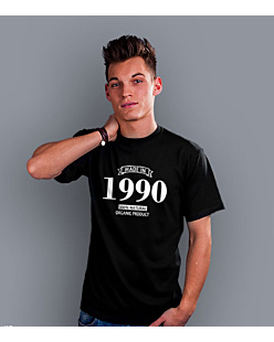 Made in 1990-94 T-shirt męski Czarny S