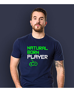 Natural Player T-shirt męski Granatowy S