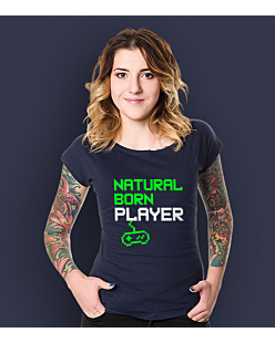 Natural Player T-shirt damski Granatowy XXL
