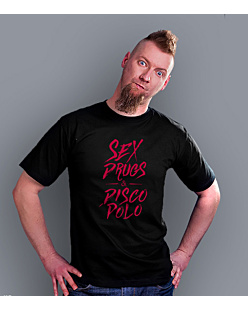 Sex Drugs DISCO POLO T-shirt męski Czarny S