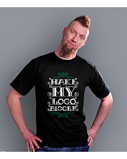 Make my logo bigger T-shirt męski Czarny S
