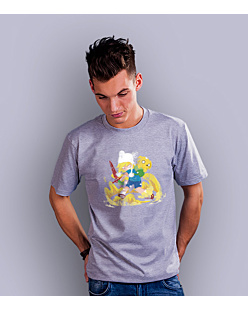 Adventure Time T-shirt męski Jasny melanż S