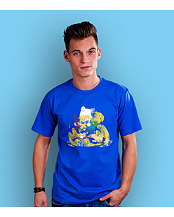 Adventure Time T-shirt męski Niebieski S