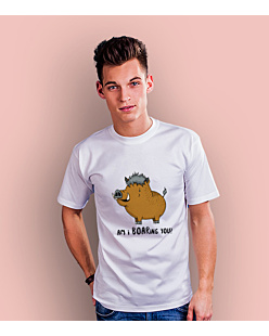 Am I BOARing you? T-shirt męski Biały S