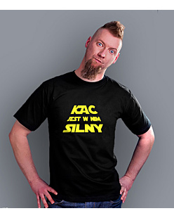 Kac is strong T-shirt męski Czarny S