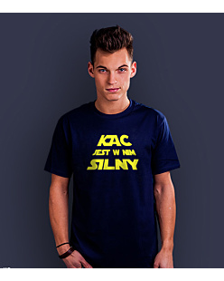 Kac is strong T-shirt męski Granatowy XL