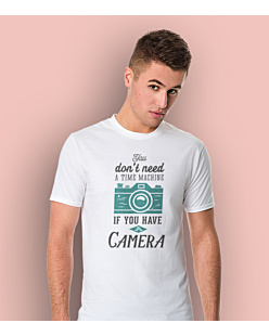 Don't Need A Time Machine T-shirt męski Biały S