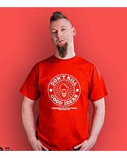 Don't kill good ideas circle T-shirt męski Czerwony S