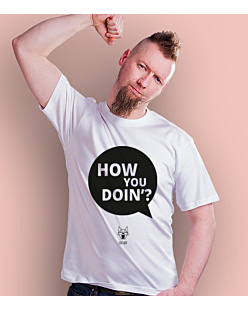 How you doin T-shirt męski Biały S