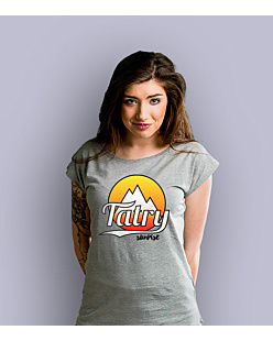 Tatry Sunrise T-shirt damski Jasny melanż XS
