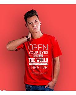 Open Your Eyes T-shirt męski Czerwony S