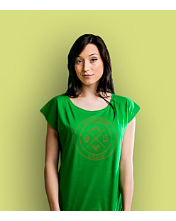 Outdoor Spirit T-shirt damski Zielony XS