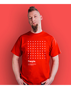 People are all the same T-shirt męski Czerwony S