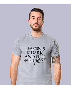 SEASON 8 IS DARK T-shirt męski Jasny melanż S