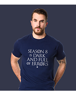 SEASON 8 IS DARK T-shirt męski Granatowy S