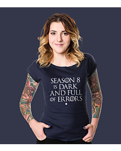 SEASON 8 IS DARK T-shirt damski Granatowy XS