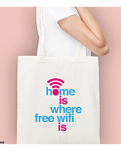 Home is where free WiFi is Torba na zakupy Naturalna Universal