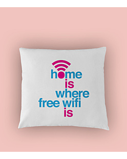 Home is where free WiFi is Poduszka Wkład U