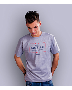 Make Mobile  T-shirt męski Jasny melanż S