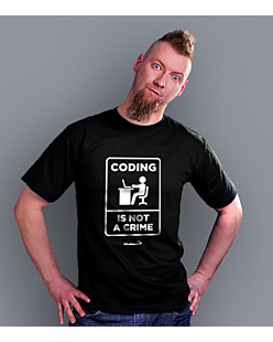 Coding is not a crime T-shirt męski Czarny S