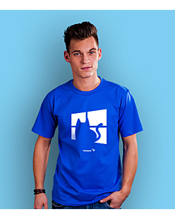 Kot Windows T-shirt męski Niebieski S