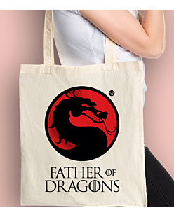 Father of Dragons Torba na zakupy Naturalna Universal