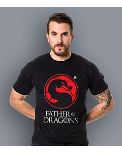 Father of Dragons T-shirt męski Czarny S